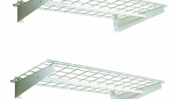 Wall Shelf With Hanging Rod fleximounts 2-pack 1x3ft 12-inch-by-36-inch wall shelf garage
