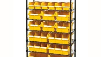 Commercial 8 Shelf 24 Bin Rack Storage System Nsf Certified