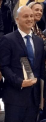 Eduardo García Blázquez Market Manager Ostomy Care Coloplast. Go Health Awards 2019. Premio a Coloplast por el Libro Blanco en la Ostomía