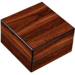 High Gloss Walnut Folding Ashtray Set with Accessories Closed