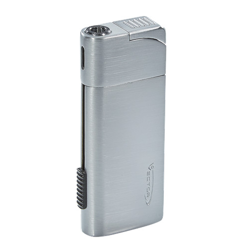 Vector Optimus Pipe Cigar Lighter - Chrome Satin