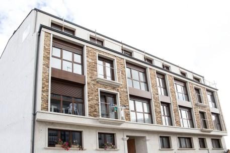 Fachada edificio obra nueva Calle Manuel Salgado Codesido