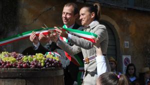 Andrea Dal Prete e Silvia Razzi durante l'inaugurazione della Fiera