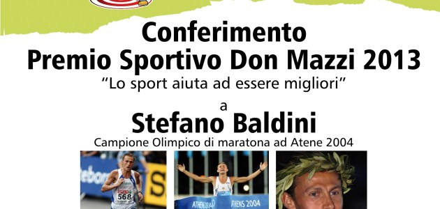 Premio Sportivo Don Mazzi a Stefano Baldini