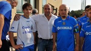 foto Claudio Sinico con Enrico Ruggeri