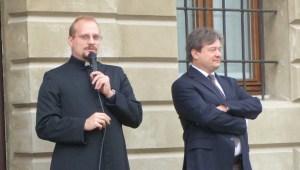 Don Daniele Dal Bosco e Fabio Banali