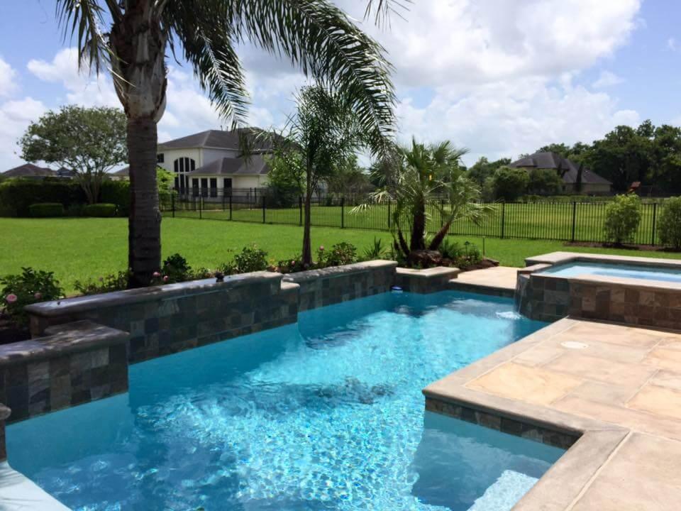 Pool Landscaping Sugar Land by Garden Guy