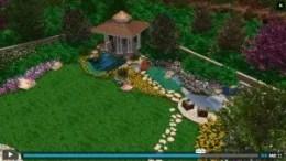 Screenshot of Video Playing custom 3d design landscape plans