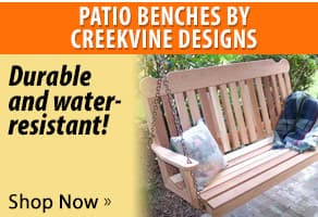 Complete your backyard patio with functional and durable wooden outdoor benches from Creekvine Designs!