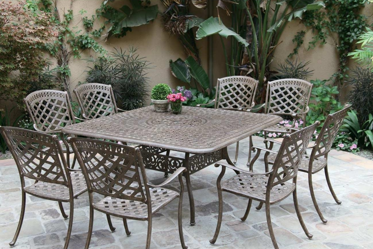 patio furniture dining set cast aluminum 60