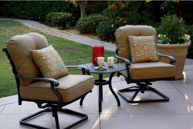 patio furniture cast aluminum deep seating rocker set swivel club