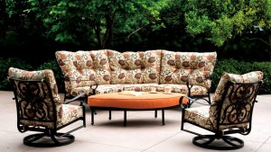 Patio Furniture Deep Seating Sectional Cast Aluminum Set