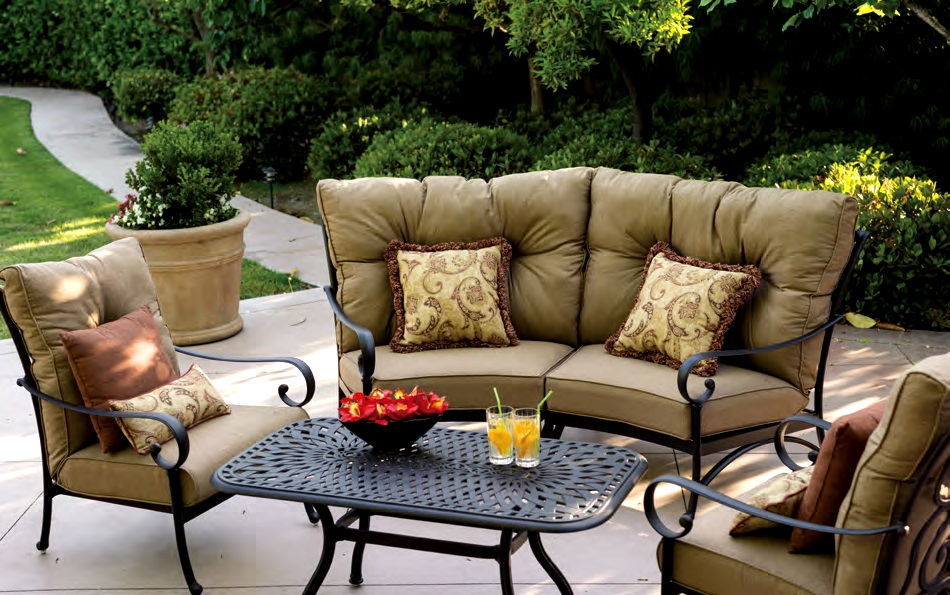 Patio Furniture Deep Seating Sectional Cast Aluminum Set ... on Outdoor Loveseat Sets  id=58283