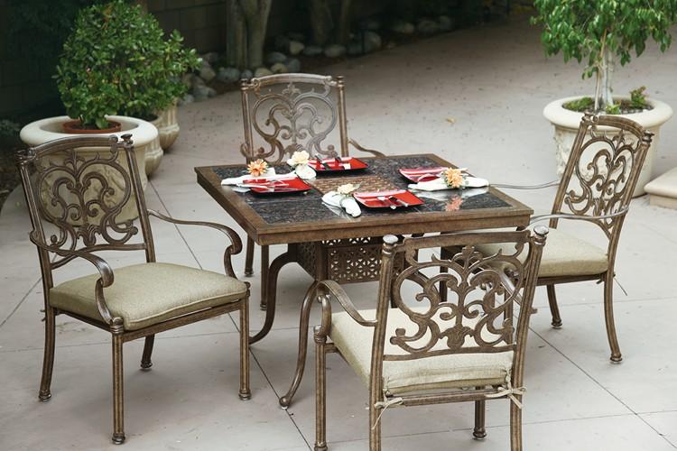 patio furniture dining set cast aluminum 41