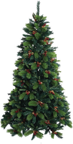 Baltic 8ft Christmas Tree With Cones And Berries 11732