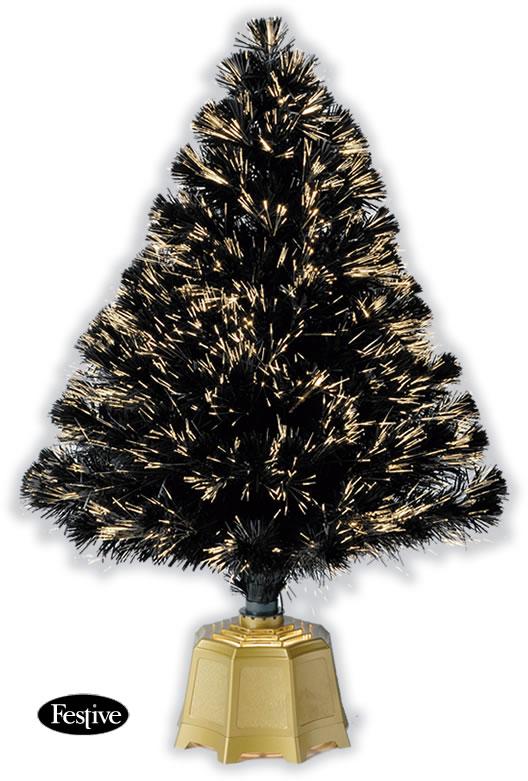 Galaxy Fibre Optic Christmas Trees Black 3ft 09m
