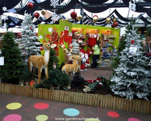 garden centre christmas decorations