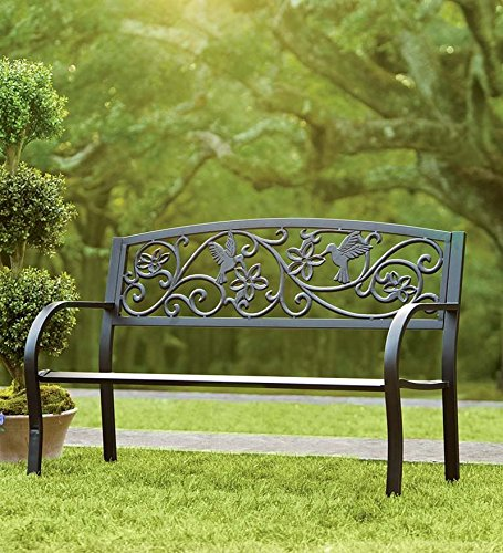 Terrific Plow Hearth Hummingbird Patio Garden Bench Park Yard Machost Co Dining Chair Design Ideas Machostcouk