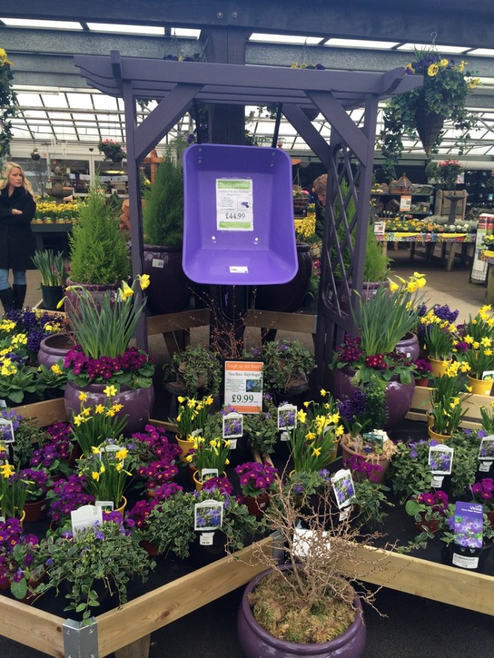 Red yellow and purple the colour of spring at fairways for Garden center designs