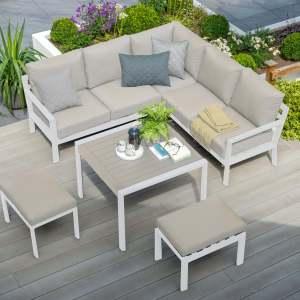 Titchwell Mini Corner Sofa White