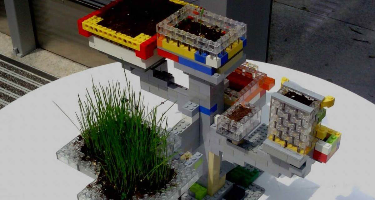 Build Your Own Planters with Legos