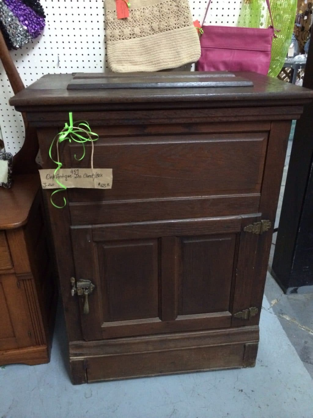 Antique Ice Box - Come See Our Antique Store Near Birmingham Alabama