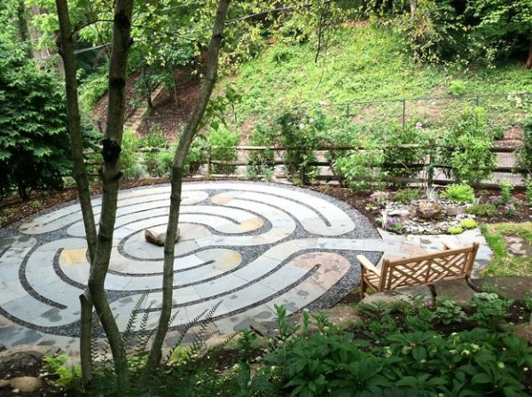 labyrinth flower garden designs Healing Labyrinth Garden | Garden Design