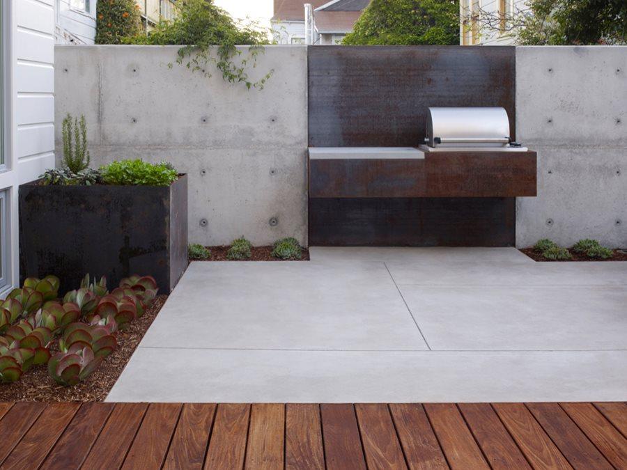 A Custom Built-In Barbecue | Garden Design on Backyard Exterior Design id=55679
