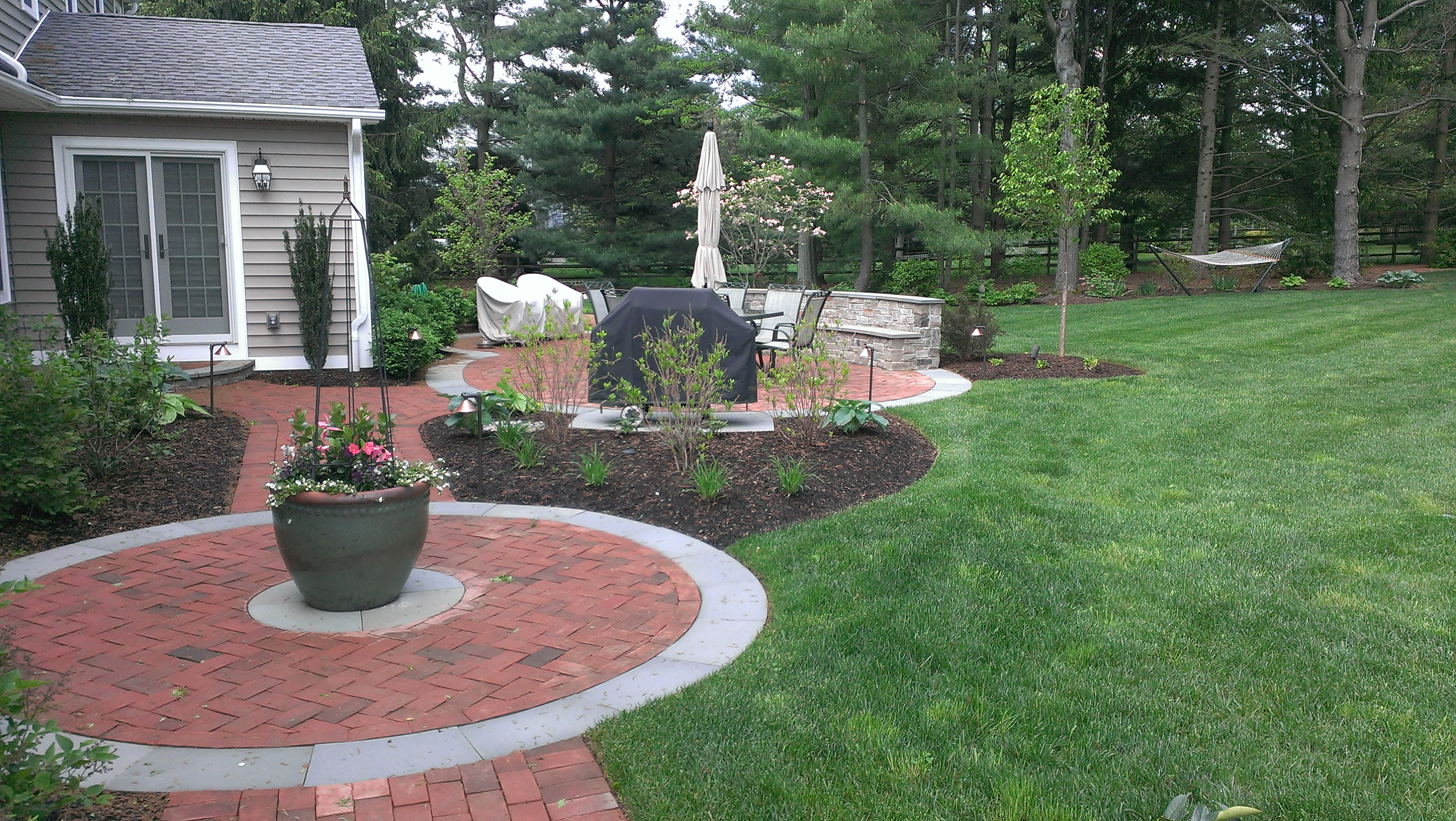 paver walkways Archives - Garden Design Inc. on Red Paver Patio Ideas id=28176