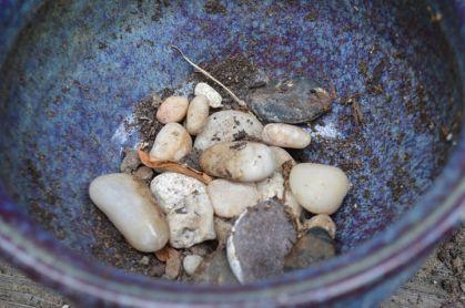 Stones in Bottom of Planter