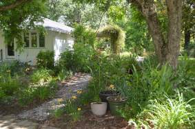 Front walkway and gardens