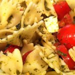 Pesto Pasta With Tomatoes and Feta
