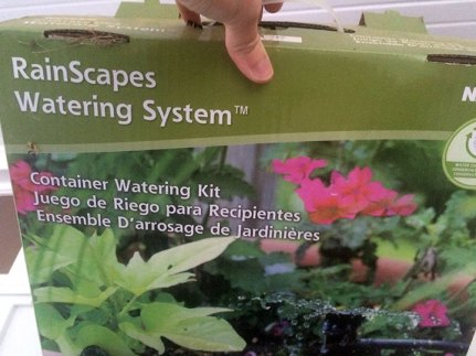 RainScapes Container Watering System
