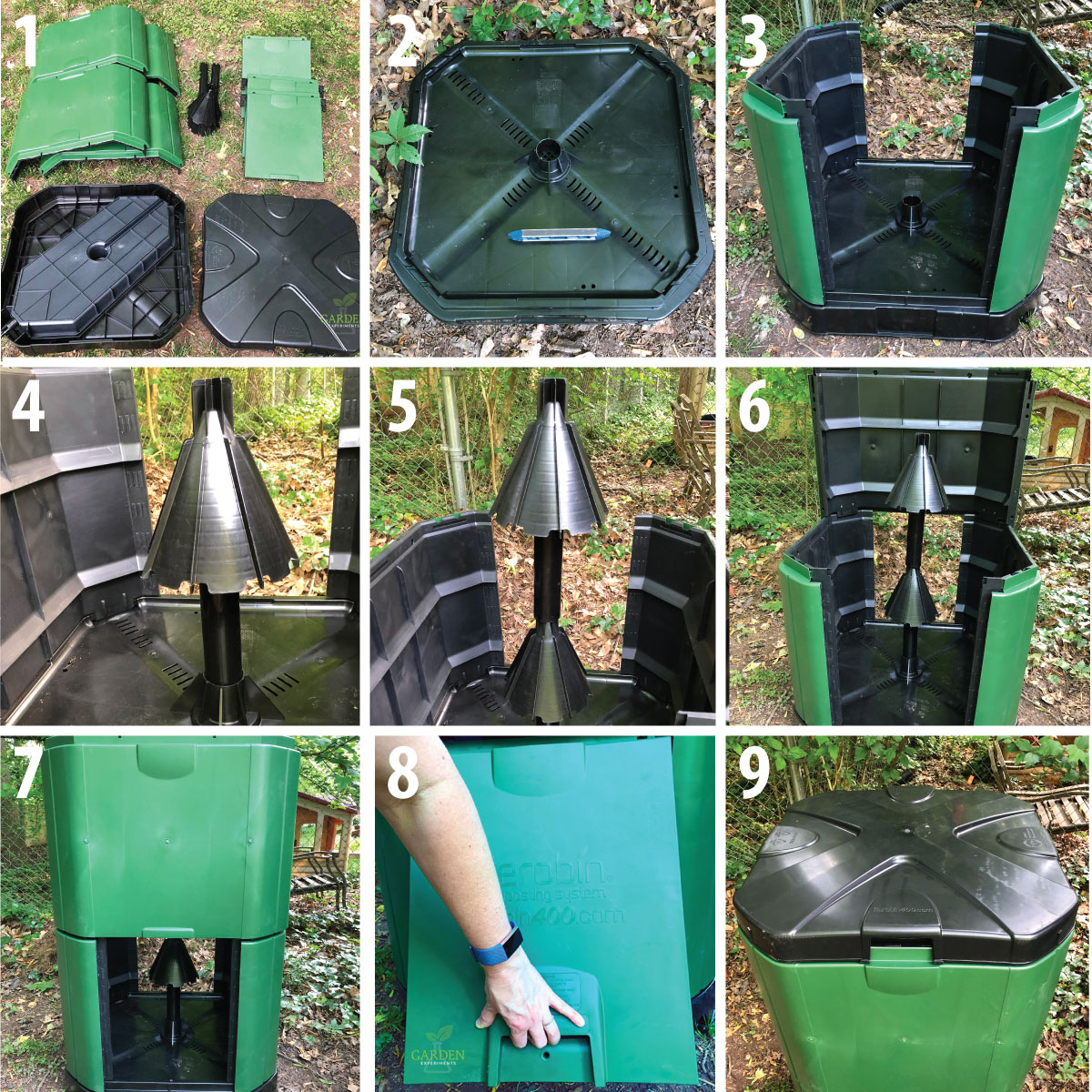 Steps to assemble the Aerobin 400 Composter