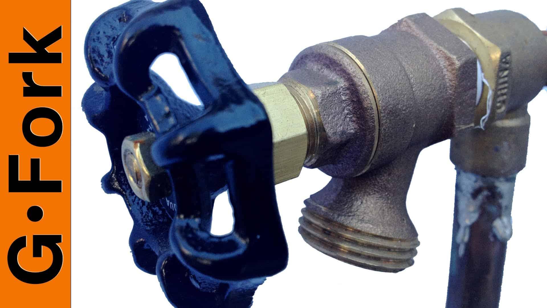 outdoor dripping water faucet repair gardenfork eclectic diy