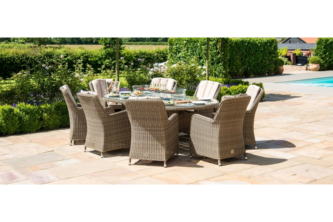 oxford 8 seater oval venice fire pit dining