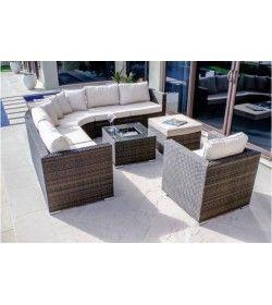 half moon sofa set rattan garden furniture