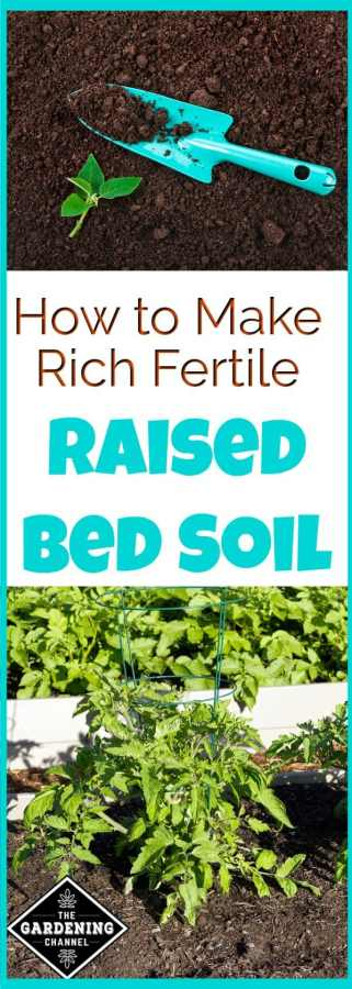 Make your own raised bed soil