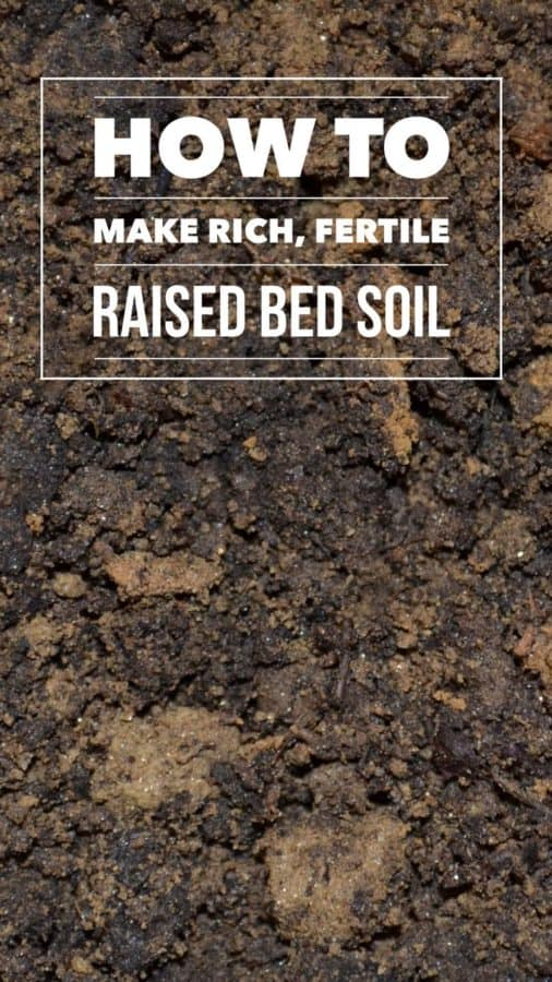 best raised bed gardening soil