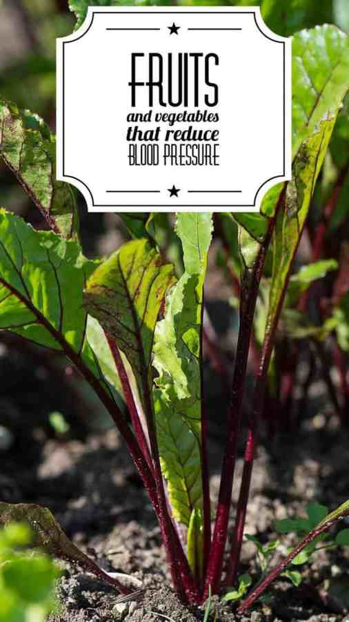 fruits and vegetables that lower blood pressure list