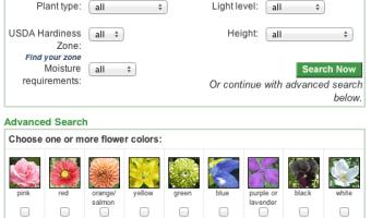 NGA Plant Finder
