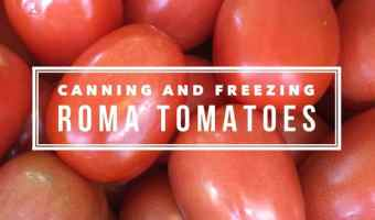 Preserving Roma Tomatoes Can and Freeze