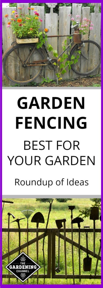 Bike On Garden Fence And Garden Tool Fence With Text Overlay Garden Fencing  Best For Your