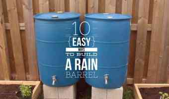 how to build a rain barrel the easy way