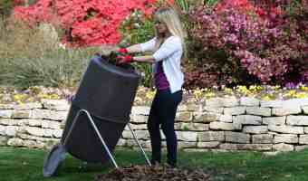 Spin Bin compost tumbler composter for composting