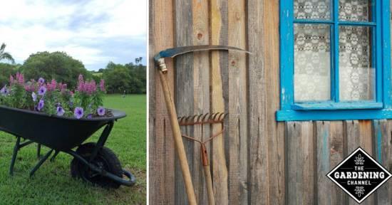 Repurpose old garden tools