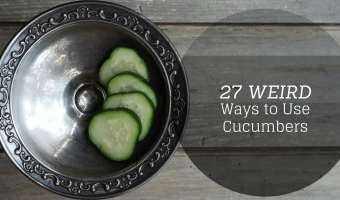 weird ways to use cucumbers