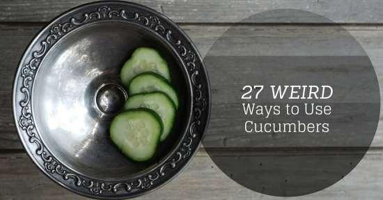 weird ways to use cucumbers