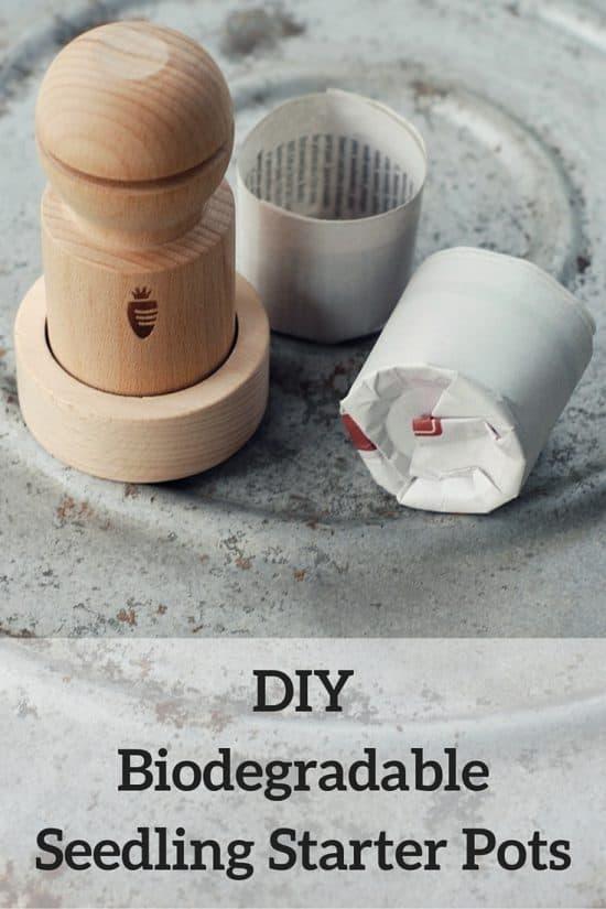 DIY Biodegradable Seedling Starter Pots