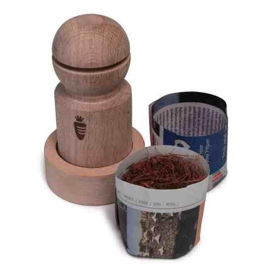 newspaper pot maker seed starting